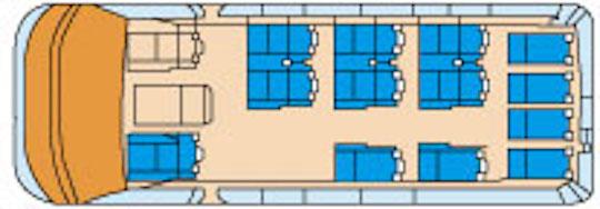 VIP様の視察、観光では通常のハイヤーのワゴンより、余裕を持ってゆったりとお座りいただけるバス・ハイヤー手配 バリアフリー旅行の東京ナイストラベルのコミューターを多くご利用いただいております。